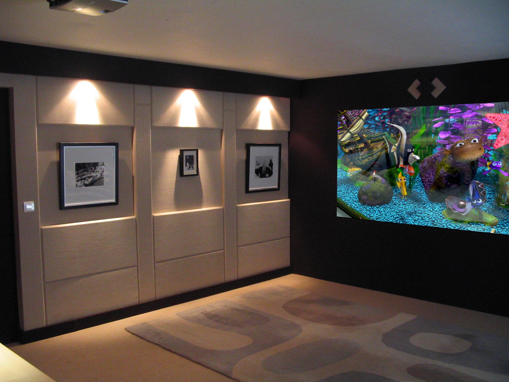 des installations home cinema. Black Bedroom Furniture Sets. Home Design Ideas